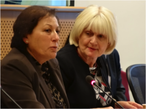 Dolores Gauci (GAMIAN-Europe) and Marian Harkin MEP