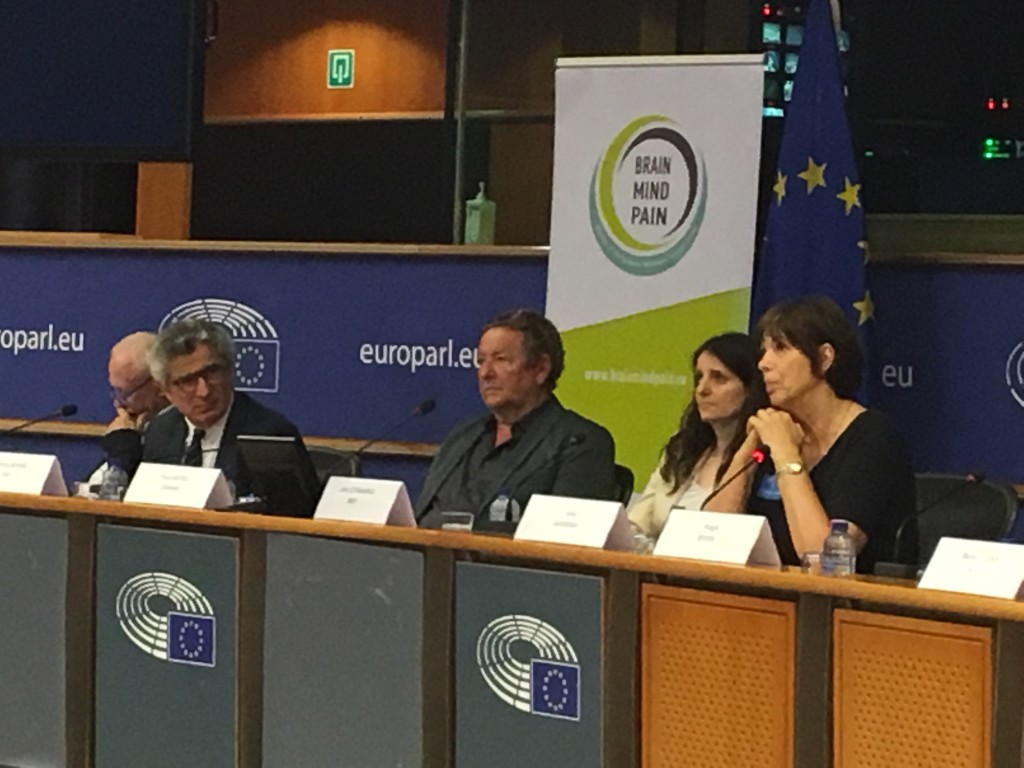 L-R: Michael Boni MEP, Patrice Boyer (EBC), Paul Arteel (Gamian), Jana Zitnanska MEP and Joke Jaarsma (European Alliance for Restless Legs Syndrome)