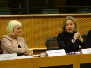 (Left: Marian Harkin MEP, Right: Emmanuelle Grange, DG Employment)